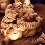 Zwerge aus Schnewittschen - in Sand verewigt
