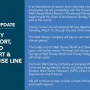 Disney Parks Statement zur Schliessung wegen Corona
