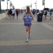 Auf dem Weg zum Eingang des Shanghai Disneyland