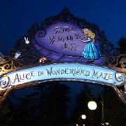 Der Eingang zum Alice in Wonderland Maze