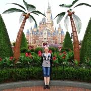 Blick auf das Fantasy Castle vom Garden of Imagination aus