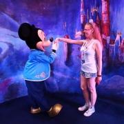 Treffen mit Mickey Mouse in Shanghai