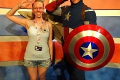 Treffen mit Captain America