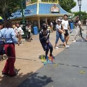Entertainment vor der Parade