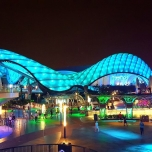 Tron Motorcycle Ride in Shanghai