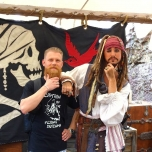 Treffen mit Captain Jack Sparrow in Disneyland Shanghai