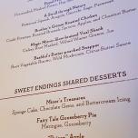 Speisekarte für das Storybook Dinner