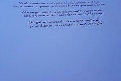 Speisekarte Storybook Dining