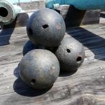 Kanonenkugeln in der Festung