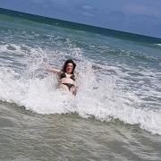 Planschen im Meer in Florida