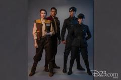 links: Cast Member von Resistance und Rechts: der First Order