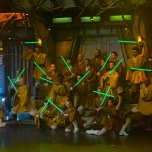 Finale des Light Sabre Duel bei Star Wars Le Soiree