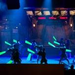 ...zeigten eine großartie Lichtschwert-Choreographie...