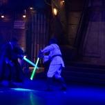 Actionreiche Lightsaber Show im Videpolis