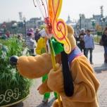 Pluto ist auch dabei, bei Goofy's Garden Party