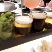Bier Flight mit japanischen Bieren