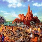Konzeptzeichnung von Thunder Mesa im Disneyland Paris von Frank Armitage