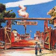 Konzeptzeichnung des Eingangs zu Frontierland im Disneyland Paris durch Fort Comstock