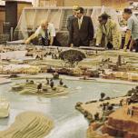 Modell des Magic Kingdom von 1969, rechts ist Thunder Mesa zu sehen