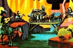 Concept Art zur Postkutschen-Überfall-Szene bei der Western River Expedition