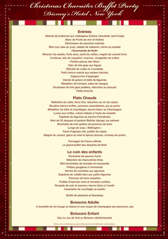 Restaurant Weihnachtsessen.Essen An Weihnachten Im Disneyland Paris Die Speisekarten
