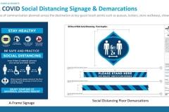 Hinweisschilder zum Social Distancing