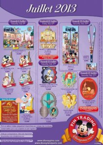 Disneyland Paris Pin Trading Juli 2013