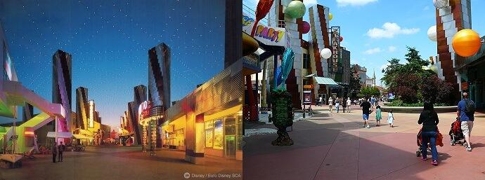 Vergleichsbild Festival Disney 1992 zu Disney Village
