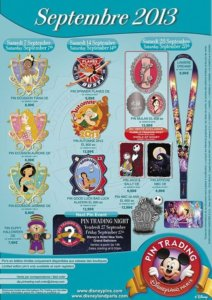 Disneyland Paris Pin Trading Pins September 2013