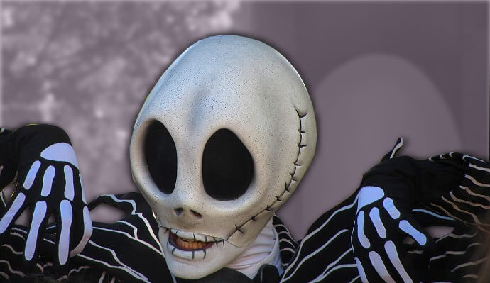 Jack Skellington im Disneyland Paris treffen