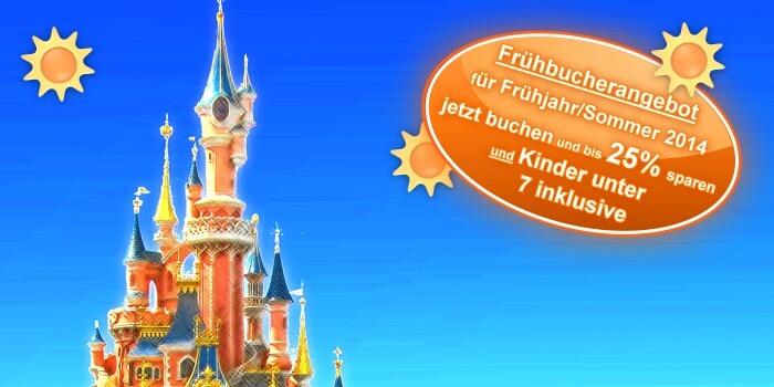 Frühbucher Rabatt für Sommer 2013/2014 im Disneyland