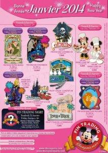 Disneyland Paris Pins Januar 2014