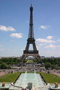 Blick vom Palais de Chaillot auf den Eiffelturm
