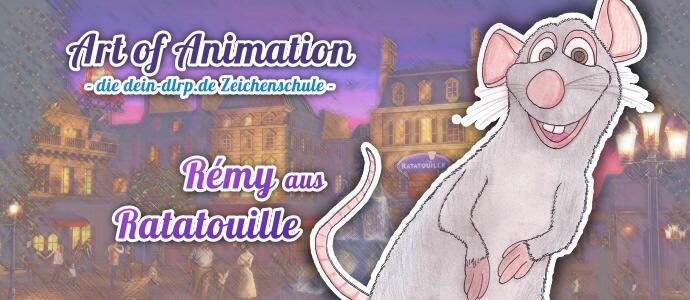 Zeichenschule: Lerne Rémy aus Ratatouille zu zeichnen - und unserem Zeichenkurs