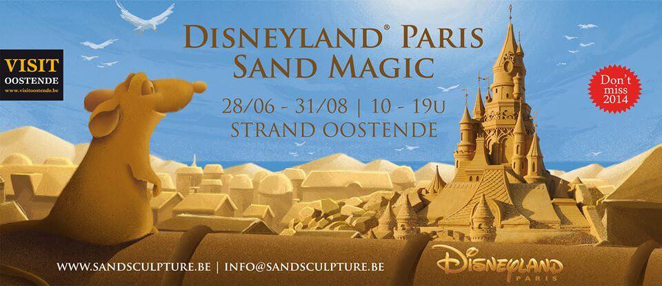 Disney Sandskulpturen Fesitval Oostende 2014
