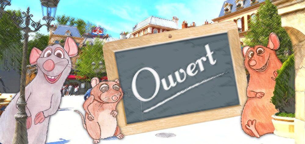 Remy, Emile und Baby Rat begrüßen Euch am Place de Remy bei Ratatouille