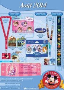 Disneyland Paris Pin Trading August 2014