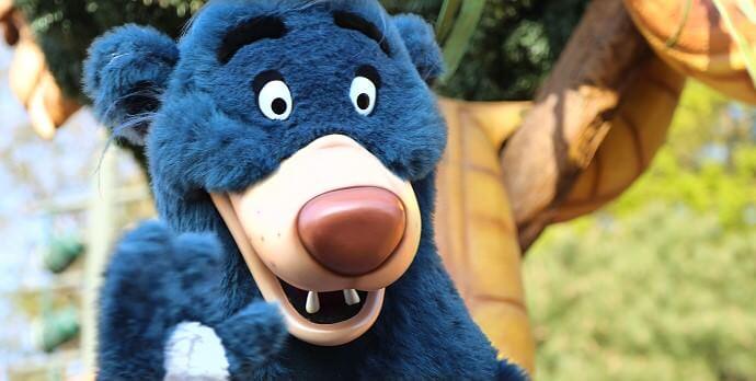 Baloo oder deutsch Balu im Disneyland Paris