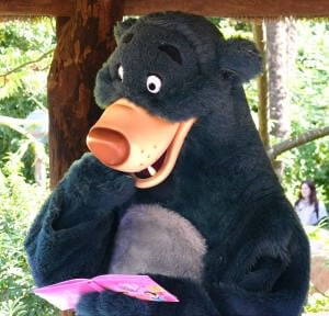 Balu beim Meet'n'Greet im Adventureland