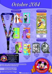 Disneyland Paris - Pin Trading Pins Oktober 2014