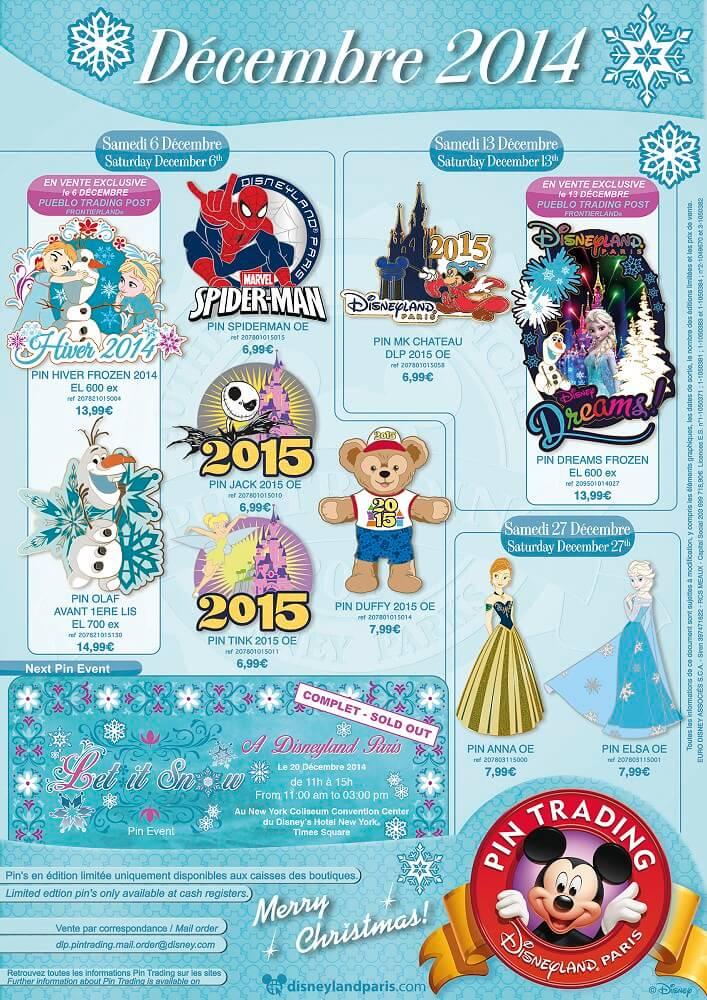 Dezember 2014 Pin Trading Disneyland Paris