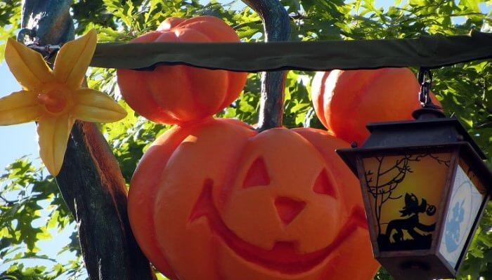 Halloween Kürbis und Dekoration im Disneyland Paris