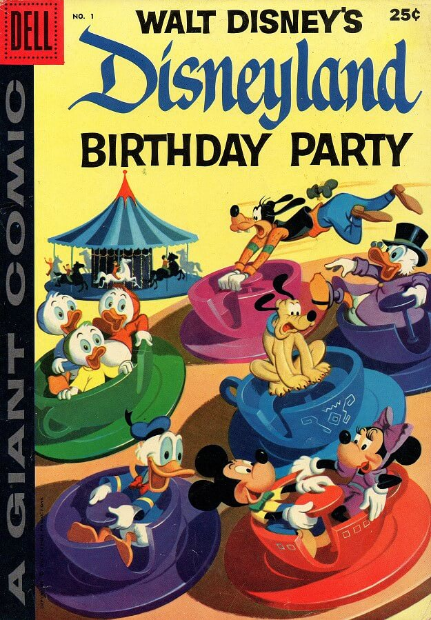 "Dell Giant Comic ""Birtday Party in Disneyland"""