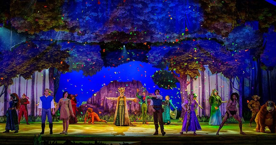 Header zur Show La Foret de l'enchantement / The Forest of enchantment im Disneyland Paris