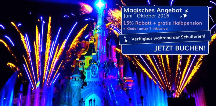 Magisches Angebot für den Sommer im Disneyland Paris