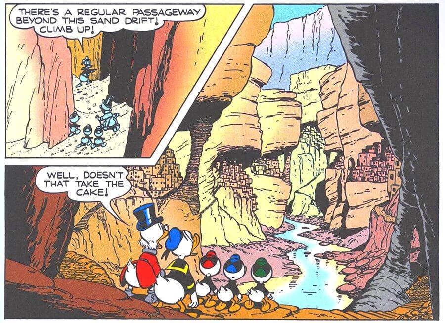 Scrooge McDuck / Dagobert findet die sieben goldenden Städte  in Südamerika