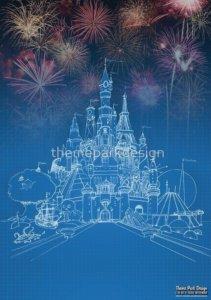 Cover Art des Buches Theme Park Design & the Art of Themed Entertainment