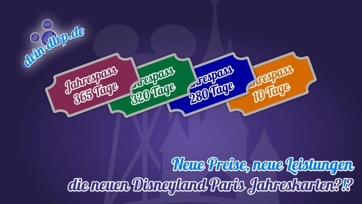 Neue Preis, neue Leistungen, neue Modelle, Jahreskarten für das Disneyland Paris