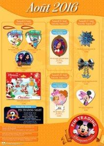 Neue Disneyland Paris Pins August 2016