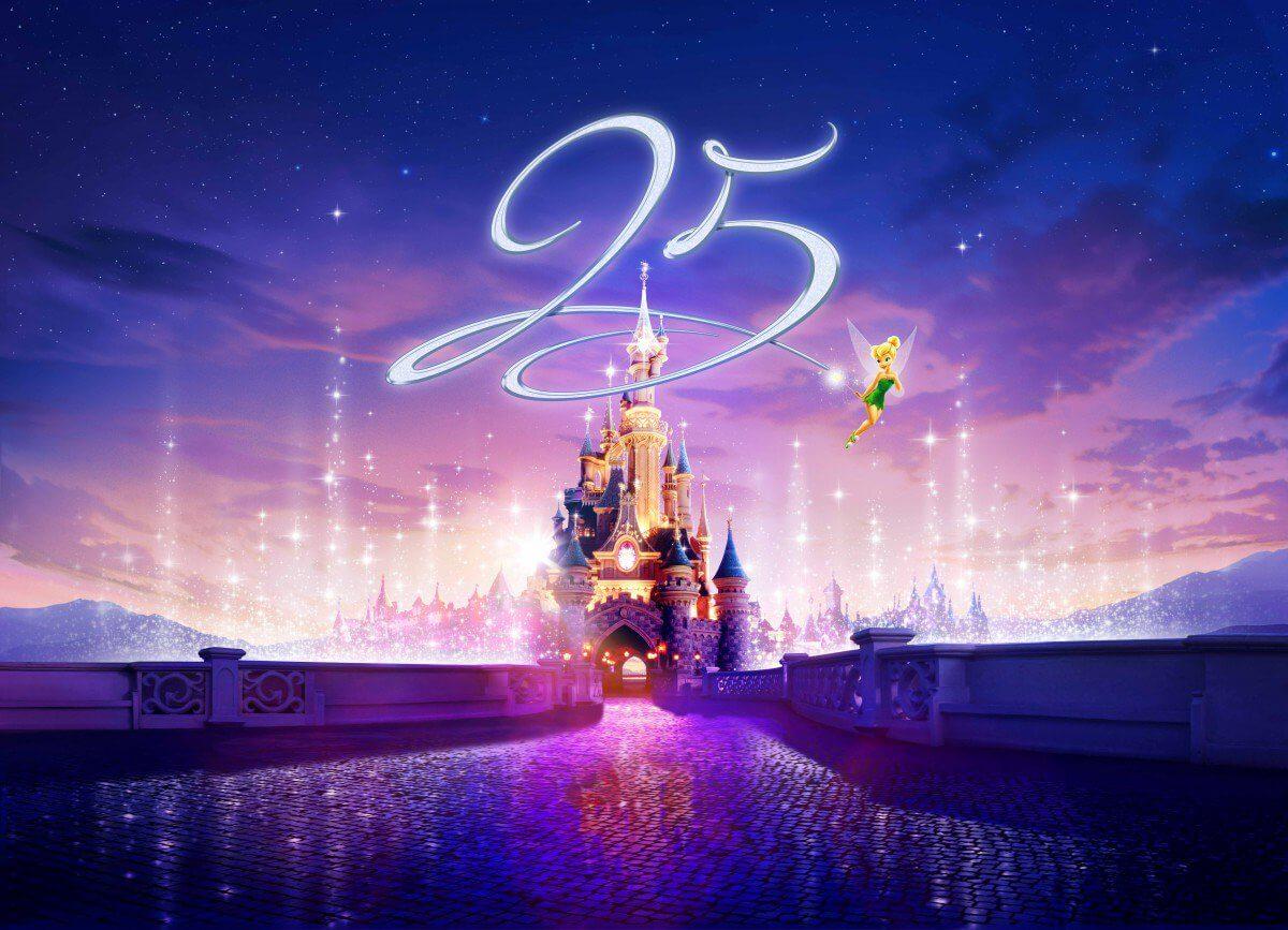 Der 25. Geburtstag des Disneyland Paris - Logo und Details des Jubiläumsjahres